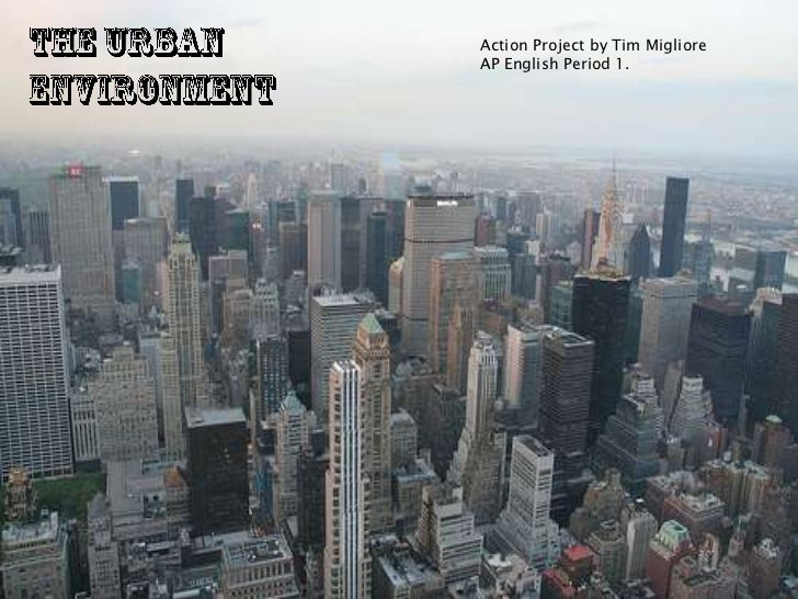 The Urban Environment<br />Action Project by Tim Migliore<br />AP English Period 1.<br />