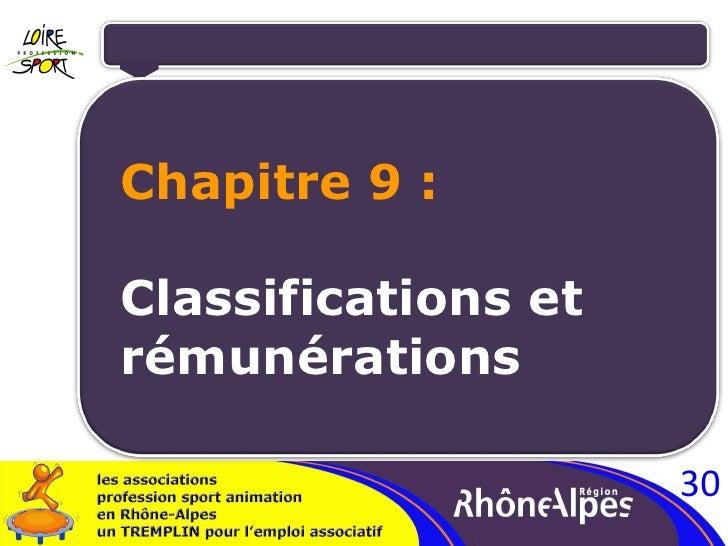 Chapitre 9 : Classifications et  rémunérations