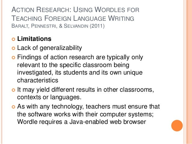 action research paper on vocabulary Using action research for reading program assessment study the development of reading vocabulary action research provides them with a structure for.