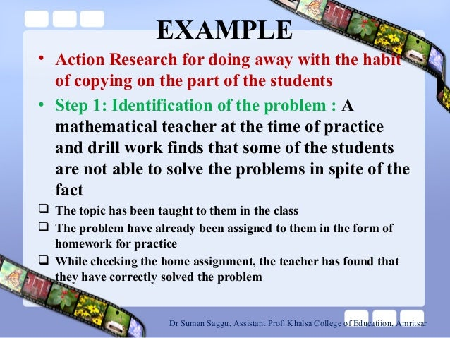 Design Classroom Action Research : Action research related to classroom problems
