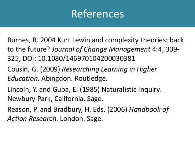 "kurt lewin and complexity theories back Kurt lewin ""if you want to truly  kurt lewin and complexity theories: back to the future 311 kurt lewin and complexity theories then goes on to examine."