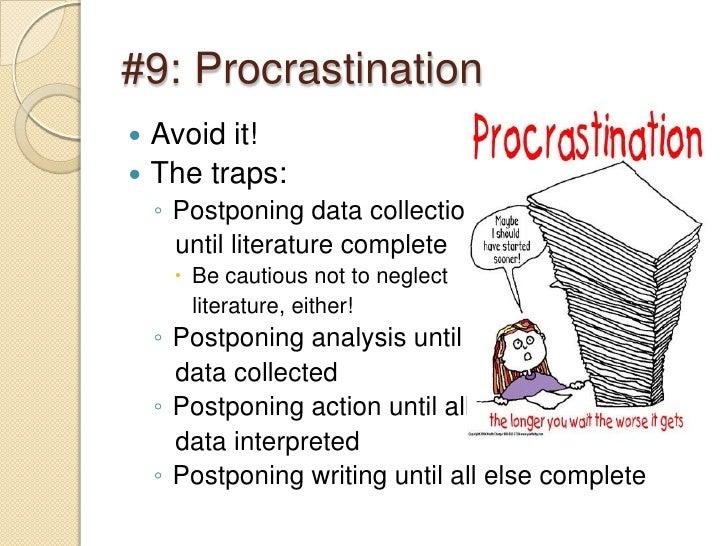 why do students procrastinate essay