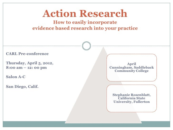 Action Research                     How to easily incorporate             evidence based research into your practice      ...