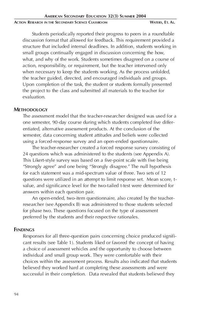 action research reflection paper Mgrich@cityacuk abstract: this paper explores the scope for using reflective logs as a component in final year projects taken by students on considerations on observation as a research method and on action research reflection-in- action is most valuable as a tool to facilitate learning in unpredictable and complex.