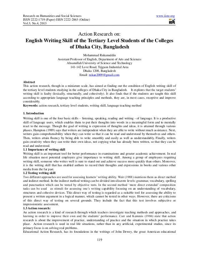 action research paper on esl students Foreign language classroom: implications for second language teachers  language classroom implications for second language  action research, efl students,.