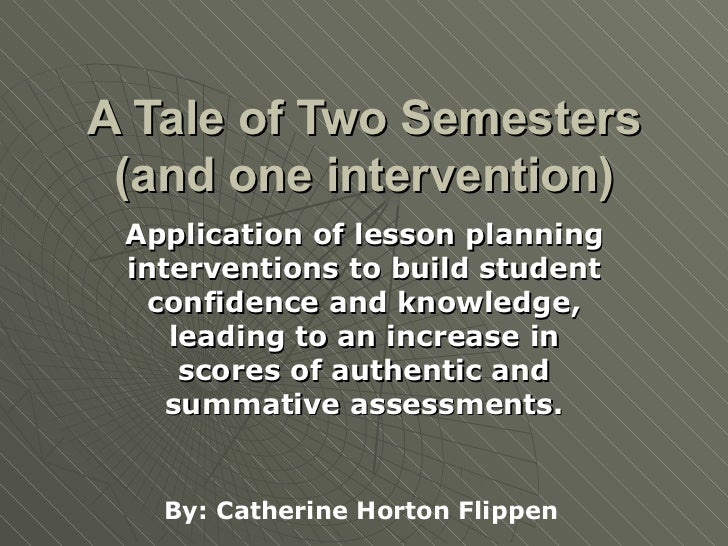 A Tale of Two Semesters (and one intervention) Application of lesson planning interventions to build student confidence an...