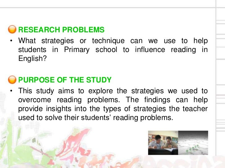 sample action research in reading comprehension pdf