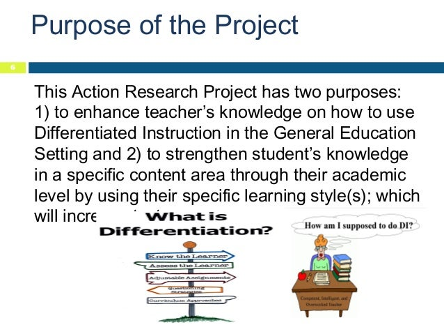 Differentiated Instruction Action Research Proposal
