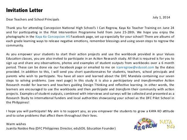 Es action research study concepcion invitation letter stopboris Images