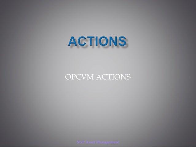 SGP Asset Management OPCVM ACTIONS