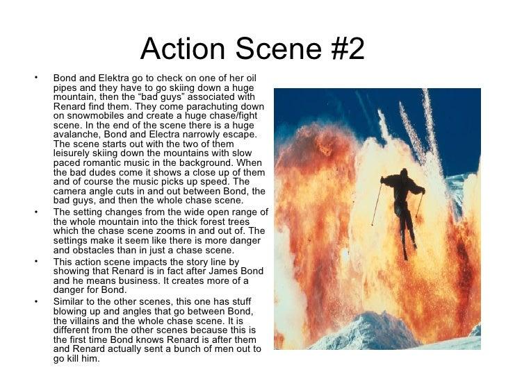 Action scenes bond Slide 3