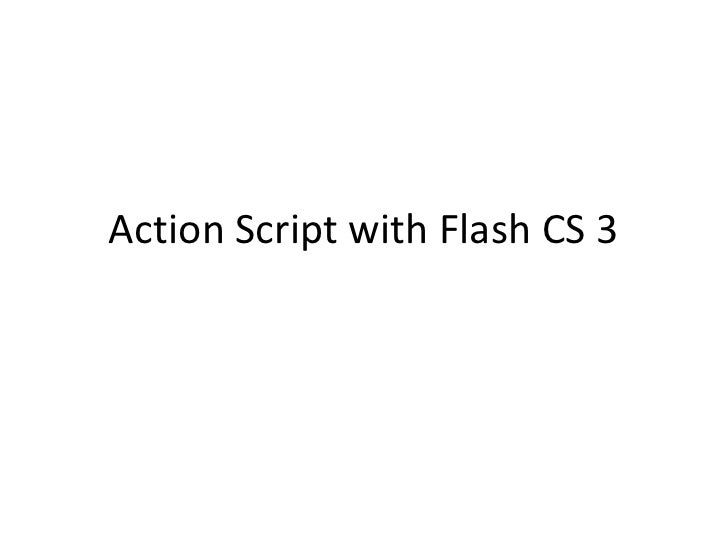 Writing action scripts flash mobs