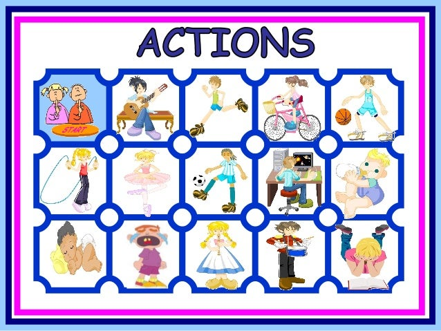 action verbs game play the drums dance cry skip with a rope play football play basketball sleep play computer - Action Berbs