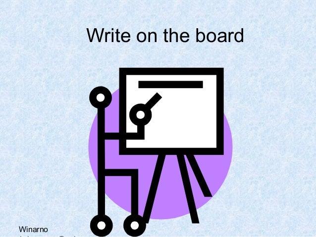 WinarnoWrite on the board