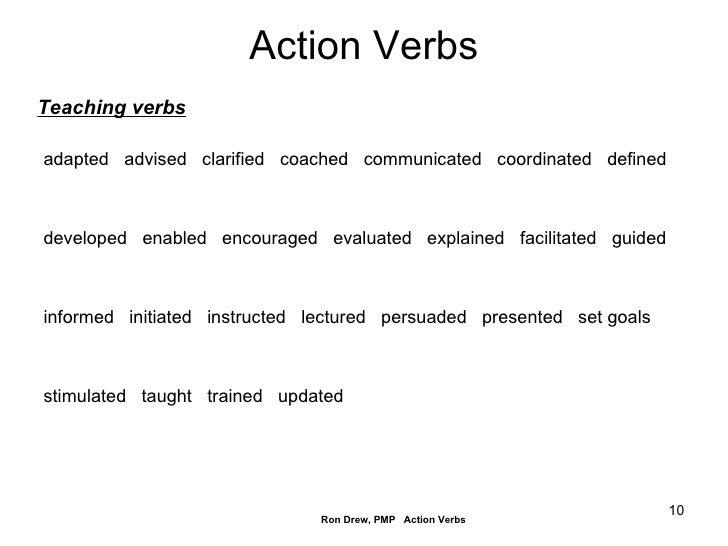 Rdrew Action Verbs