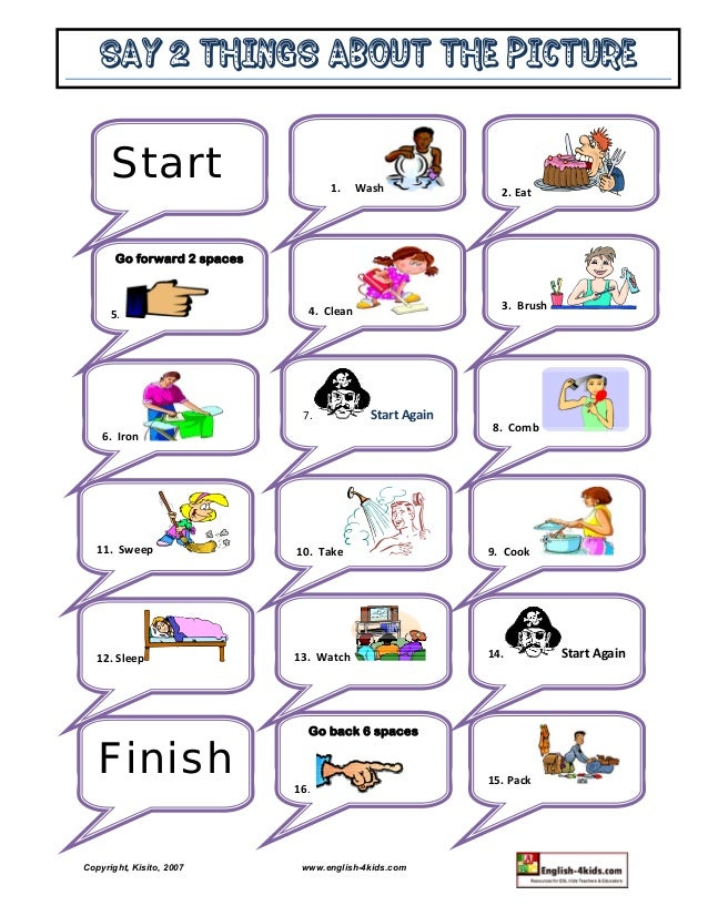 Action Verbs Sports Hobbies Olympics