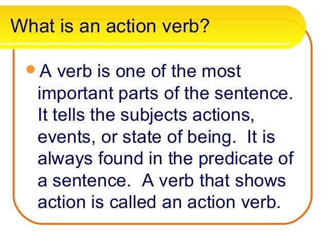 powerpoint presentation on verbs