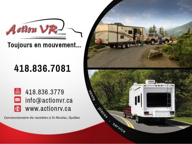Concessionnaire de roulottes à St-Nicolas, Québec