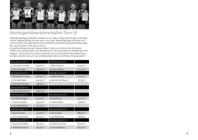98 Rekordverdächtige 75 Athleten erlebten am 21. März in Steyr einen langen und erfolg- reichen Wettkampftag. Von den Sech...