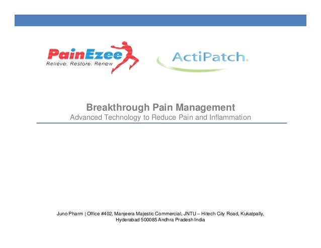 Breakthrough Pain Management Advanced Technology to Reduce Pain and Inflammation Juno Pharm | Office #402, Manjeera Majest...