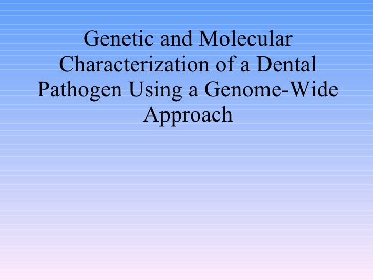Genetic and Molecular Characterization of a Dental Pathogen Using a Genome-Wide Approach