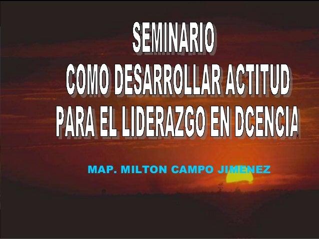 MAP. MILTON CAMPO JIMENEZ