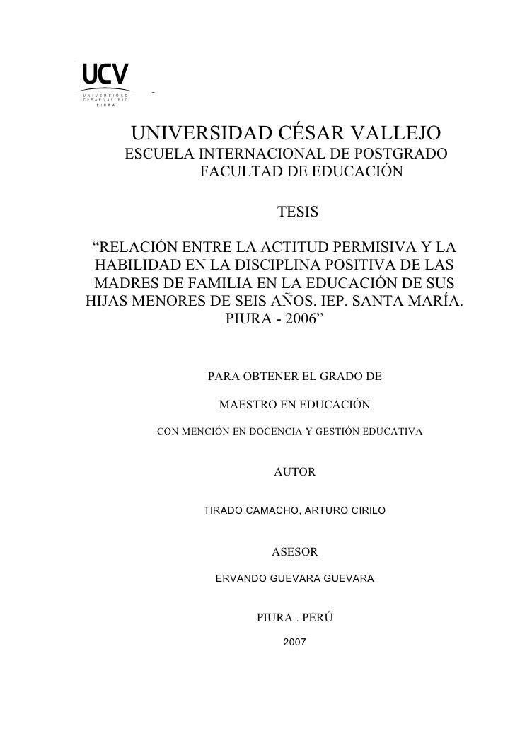 -         UNIVERSIDAD CÉSAR VALLEJO     ESCUELA INTERNACIONAL DE POSTGRADO             FACULTAD DE EDUCACIÓN              ...