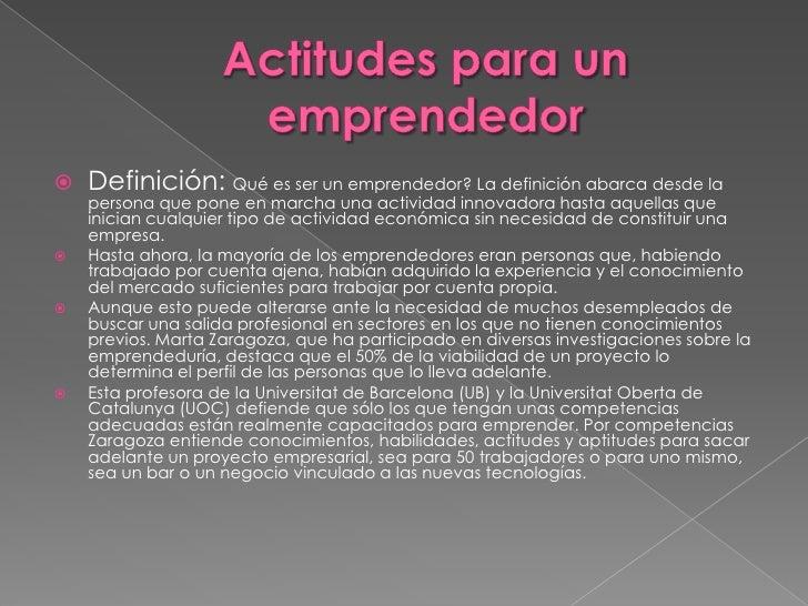 Actitudes emprendedoras Slide 2