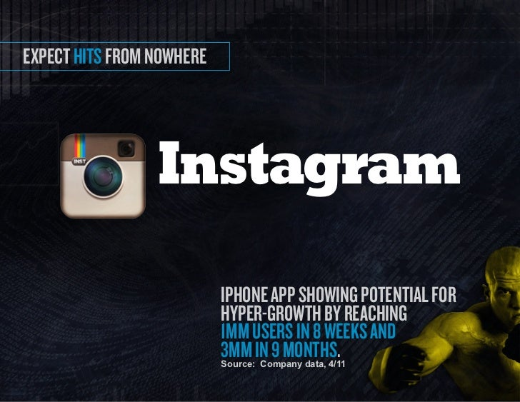expect hits from nowhere                 Instagram                           iPhone APP showing PotentiAl for             ...