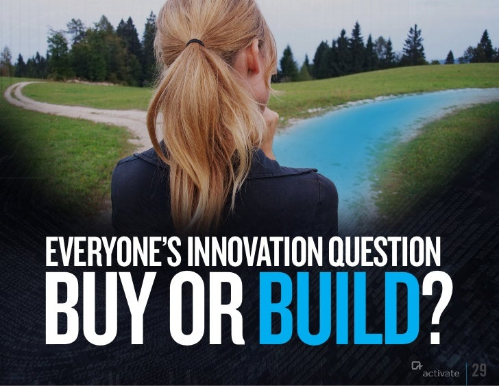 EVERyONE'S INNOVATION quESTIONBuy OR BuILD?                    29