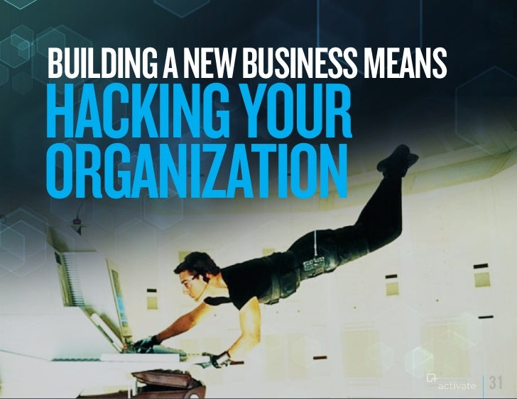 BuILDING A NEW BuSINESS MEANSHACkING yOuRORGANIzATION                                31