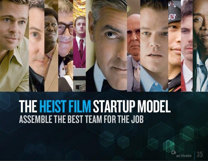 THE HEIST FILM STARTuP MODELASSEMBLE THE BEST TEAM FOR THE JOB                                     35