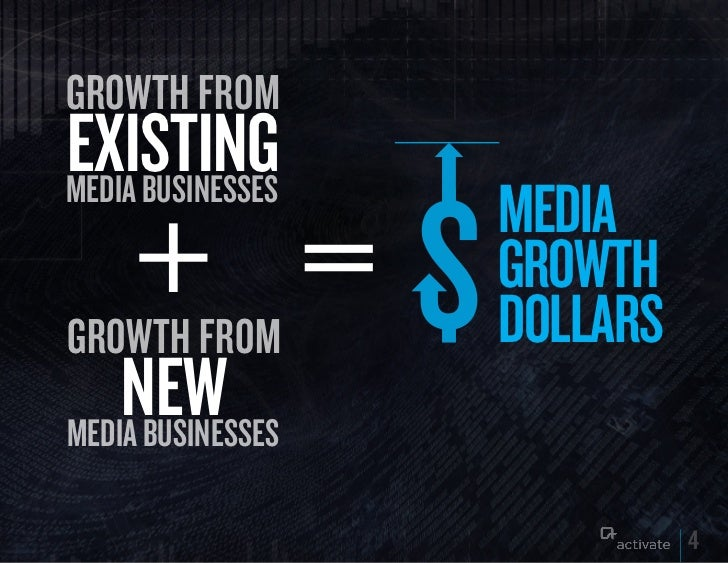 growth fromExISTINGmedia businesses                   MEDIA                   GROWTHgrowth from        DOLLARS    NEWmedia...