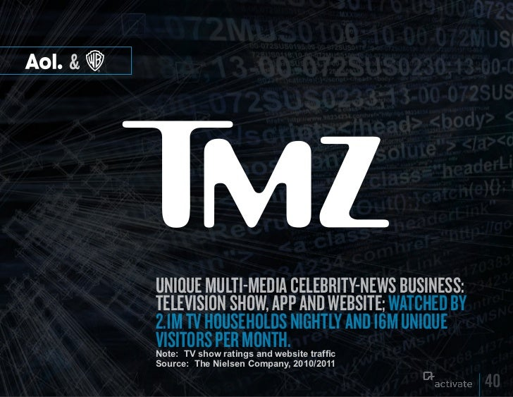 &    UniqUe mUlti-media celebrity-news bUsiness:    television show, app and website; watched by    2.1m tv hoUseholds nig...
