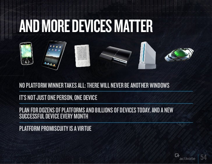 AND MORE DEVICES MATTERNo platform wiNNer takes all: there will Never be aNother wiNdowsit's Not just oNe persoN, oNe devi...