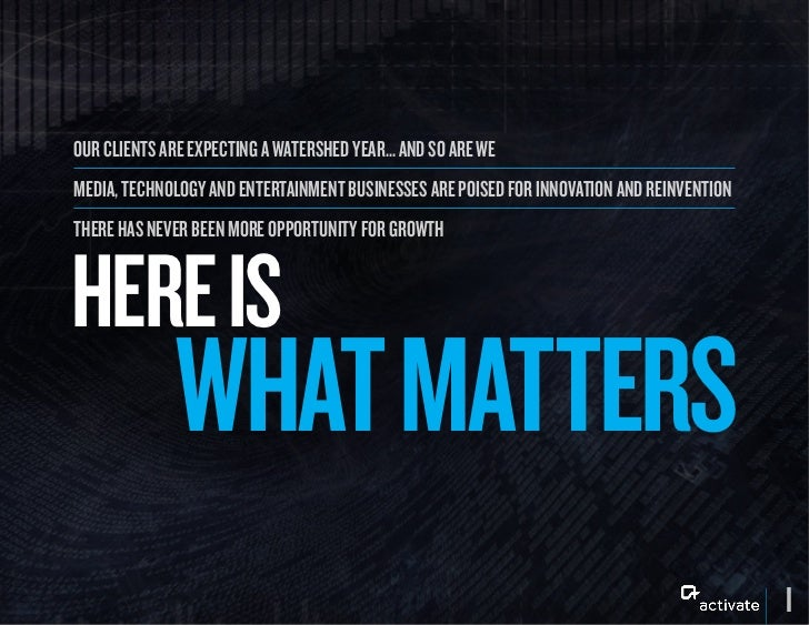 Activate: What Matters Slide 2