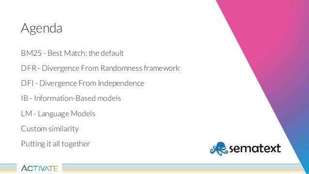 Tweaking the Base Score: Lucene/Solr Similarities Explained Slide 3