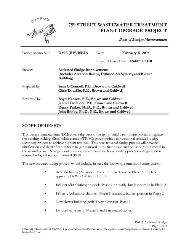 75th STREET WASTEWATER TREATMENT                                                    PLANT UPGRADE PROJECT                 ...