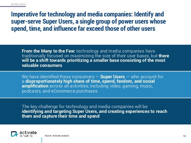 SUPER USERS Imperative for technology and media companies: Identify and super-serve Super Users, a single group of power u...