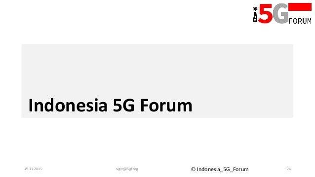 Activating 5G Research in Indonesia