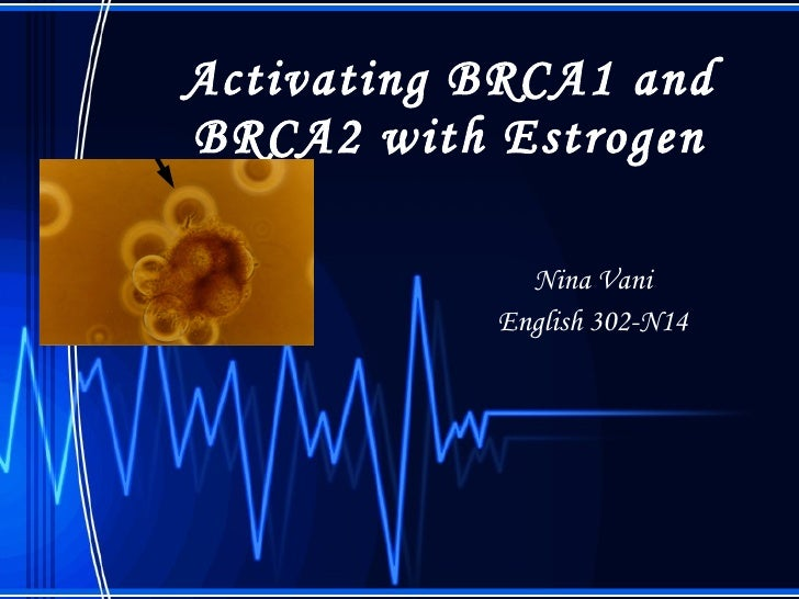 Activating BRCA1 and BRCA2 with Estrogen Nina Vani English 302-N14