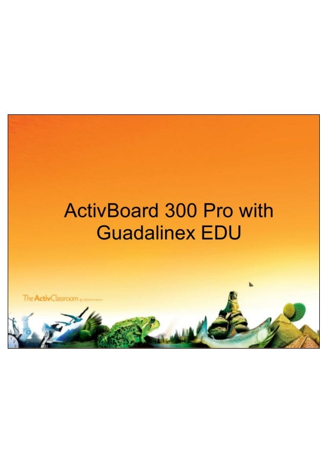 Activ board with guadalinex in spanish