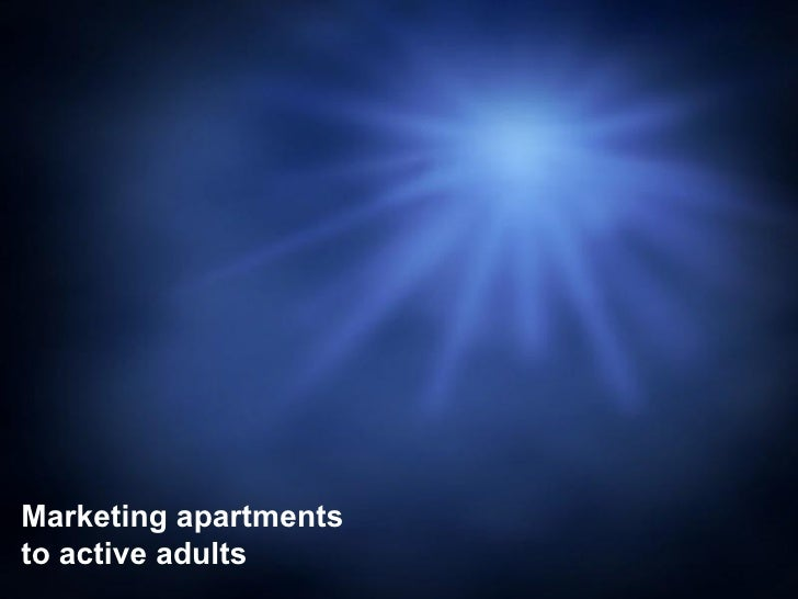 Marketing apartments to active adults