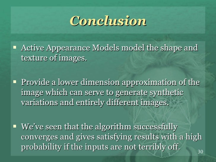 active appearance models thesis Title: active appearance models theory, extensions 1 active appearance modelstheory, extensions cases mikkel b stegmann master thesis presentation imm september 12th.