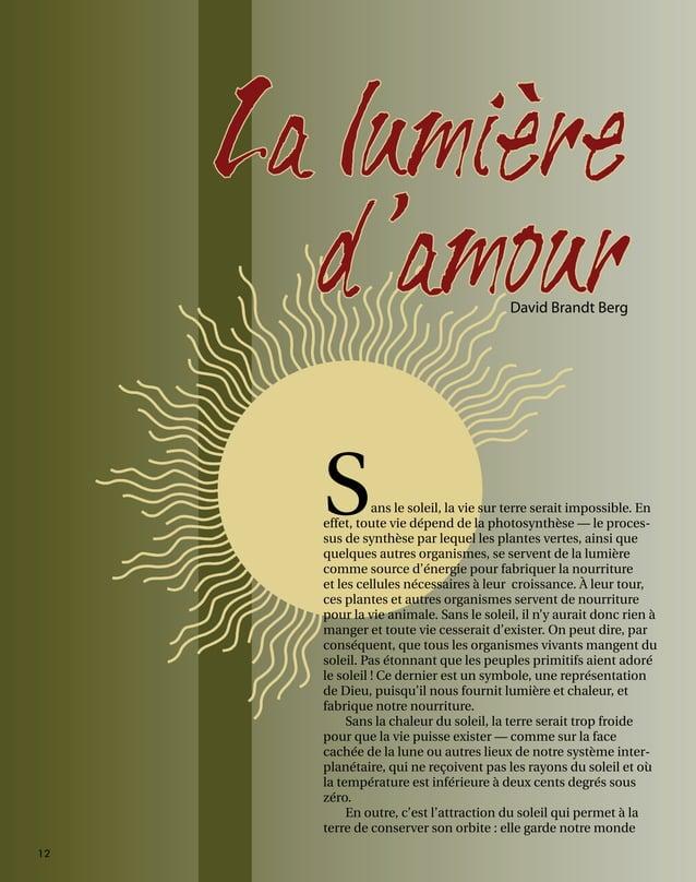 12  La lumière d'amourDavid Brandt Berg Sans le soleil, la ...