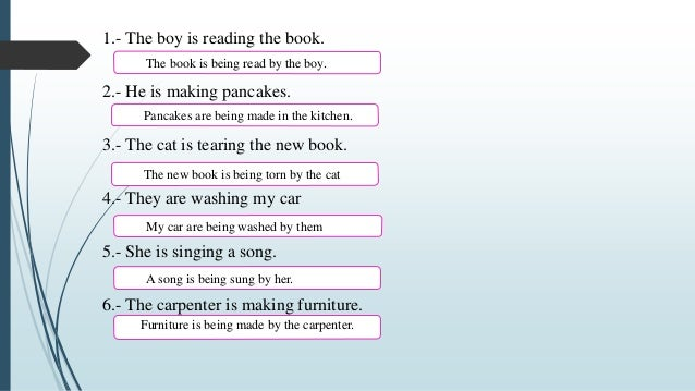 Present Continuous - Active and passive voice