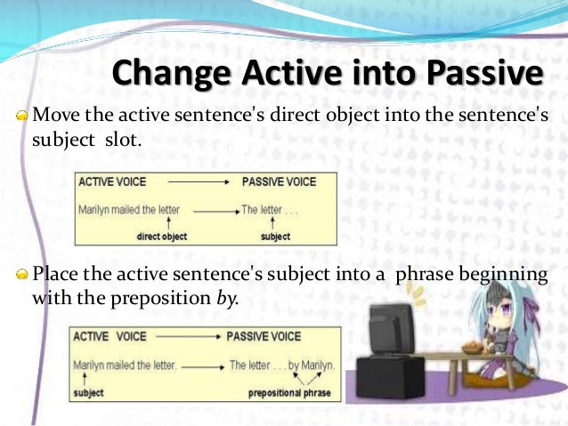 how to change active voice to passive voice