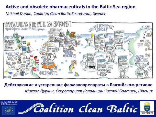 co-funded by EU LIFE Programme Active and obsolete pharmaceuticals in the Baltic Sea region Mikhail Durkin, Coalition Clea...