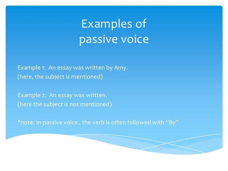 active and passive voice 8 examples of passive voiceexample