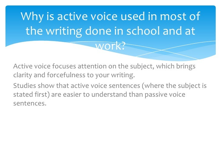 Active or passive voice in essays